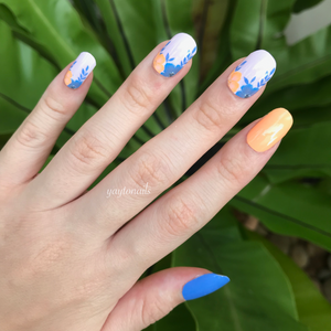 Floral Neons - Yay to Nails