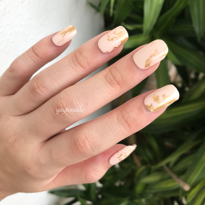 Gold Flakes (Beige) - Yay to Nails