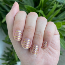 Load image into Gallery viewer, Gold Stripes - Yay to Nails