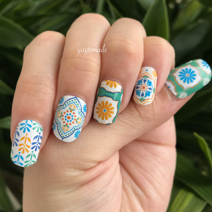 Peranakan Tiles - Yay to Nails