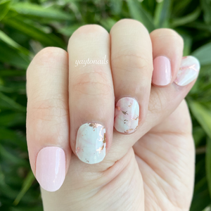 Rose Quartz (pink gold flakes) - Yay to Nails