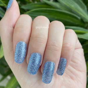True Blue - Glitter - Yay to Nails