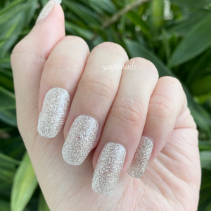White - Glitter - Yay to Nails