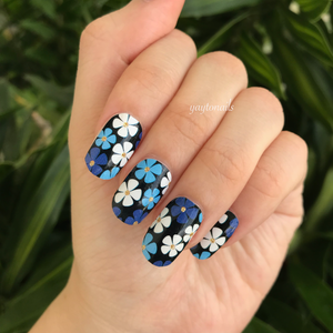 Blue Blooms - Yay to Nails