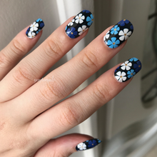 Load image into Gallery viewer, Blue Blooms - Yay to Nails