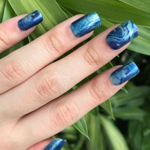 Oceans - Glitter - Yay to Nails
