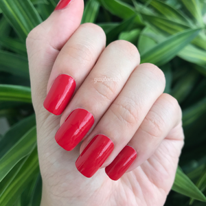 Solid - Red Hot - Yay to Nails