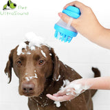 Multifunction  Silicone Brush with shampoo storage for pets
