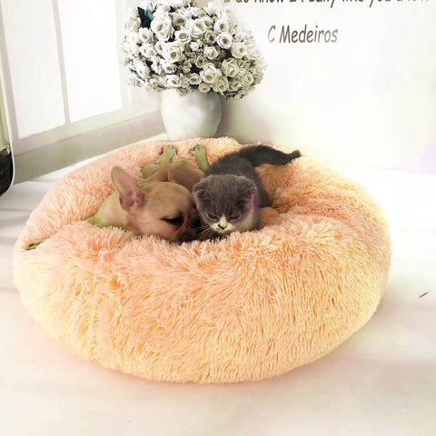Warm and Soft  Comfortable  round Nest  bed  for pet
