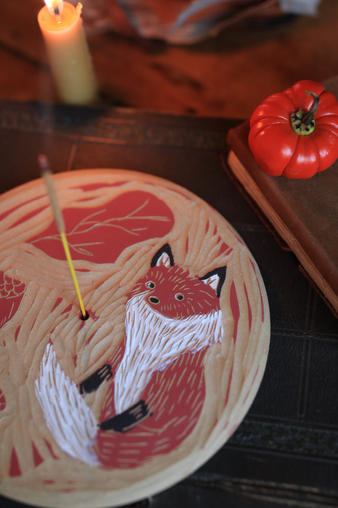 66 Fox Incense Dish DISCOUNTED