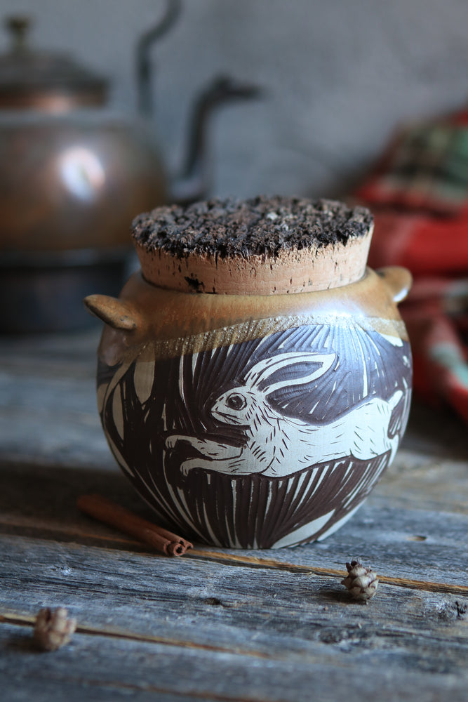 34 Winter Hare Jar