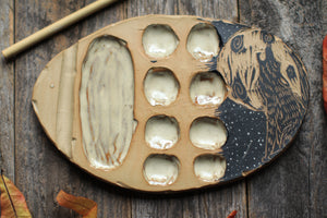 114 Ceramic Wolf Paint Palette