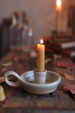 79 Single Candle Holder with Beeswax Candlesticks