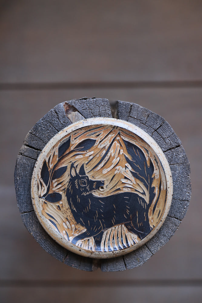 Load image into Gallery viewer, 137 Wolf Incense Dish