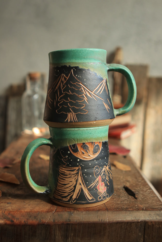 56 Campfire Mug Set of Two