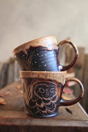 Load image into Gallery viewer, 1 Owl Mug Set of Two