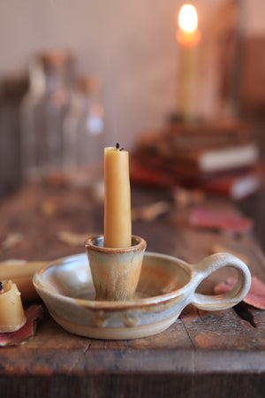 76 Single Candle Holder with Beeswax Candlesticks