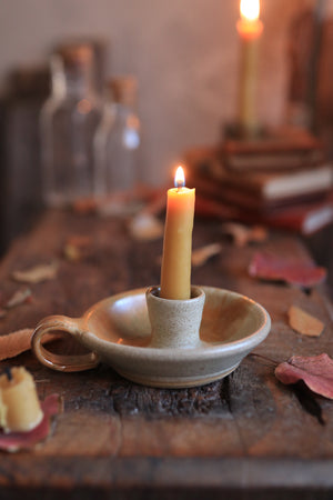 72 Single Candle Holder with Beeswax Candlesticks