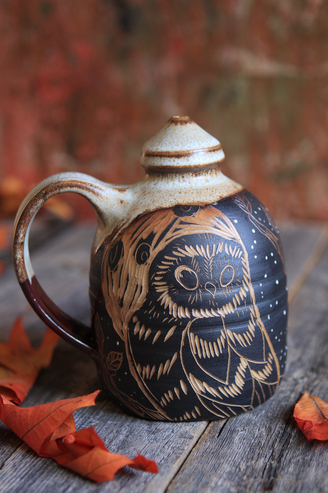 68 Owl Water Pot