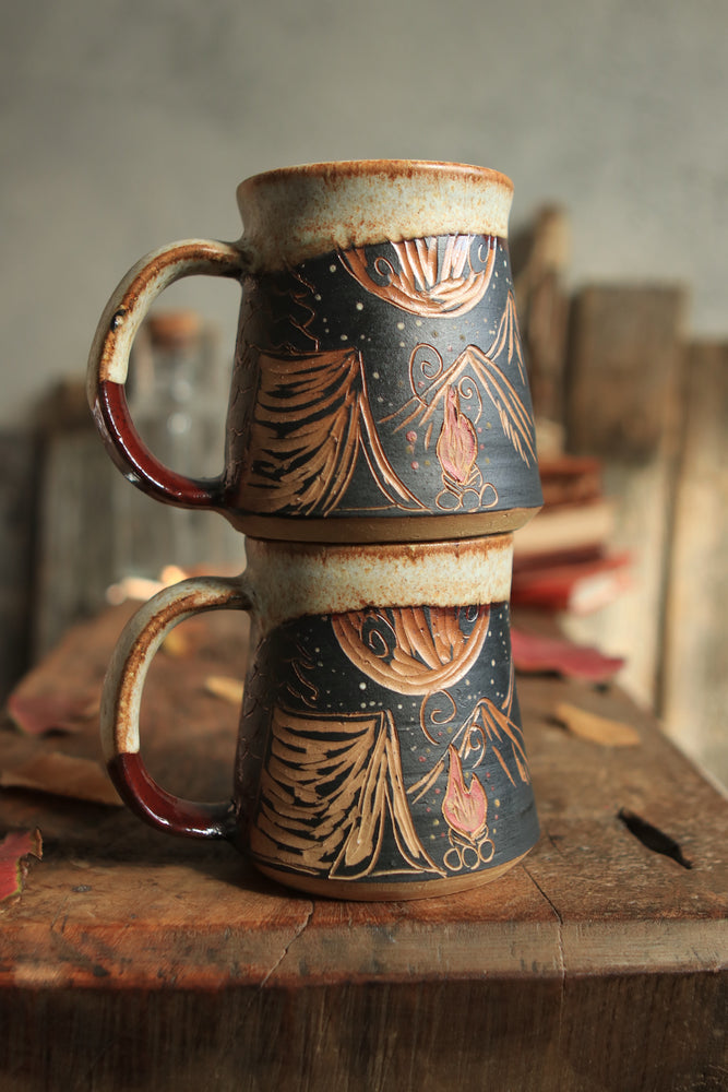 58 Campfire Mug Set of Two