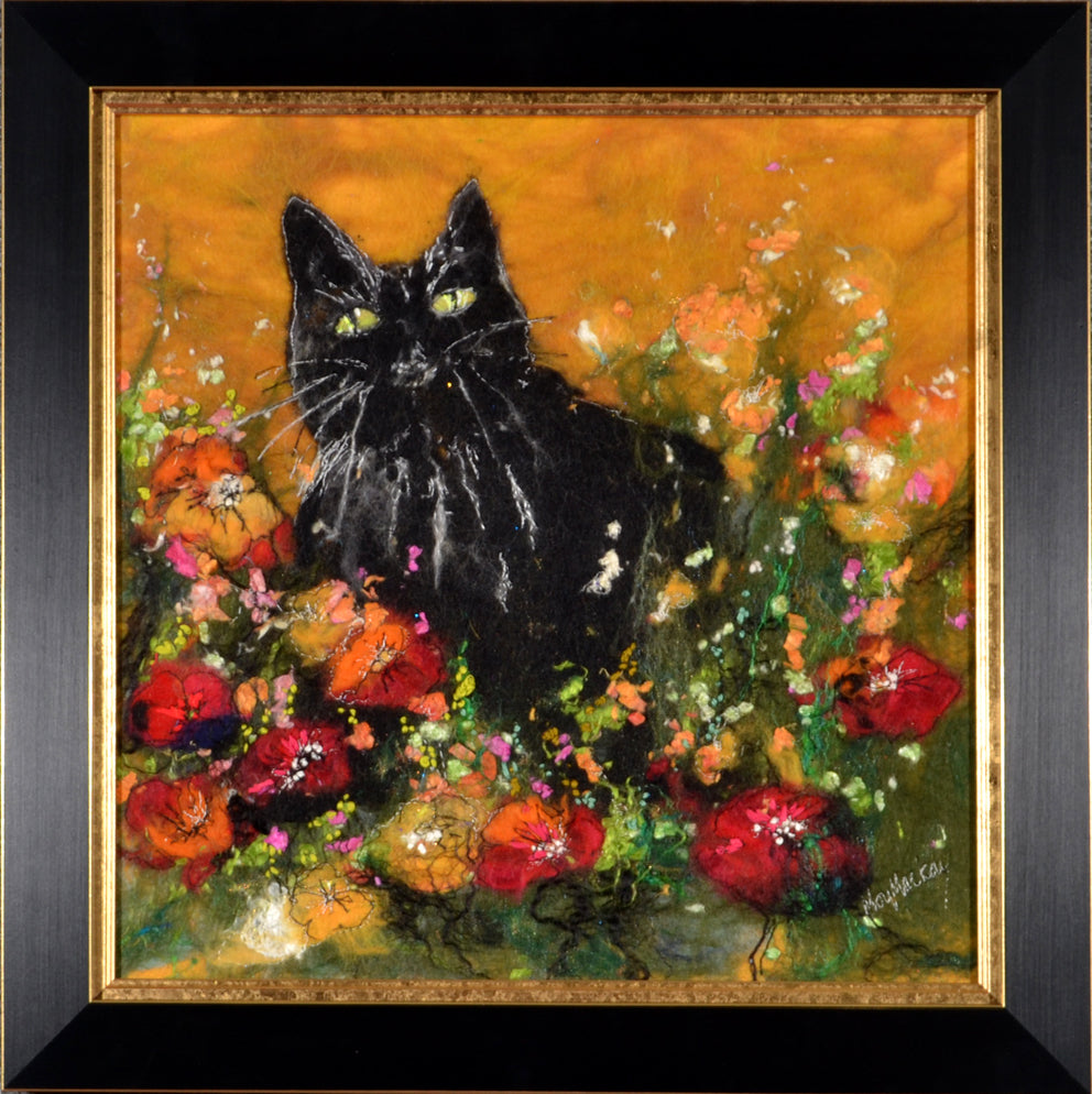 Moy Mackay - Black Cat & Poppies