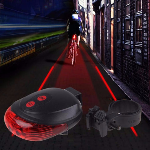 Lanterna Laser Bike LED com Ciclovia Virtual