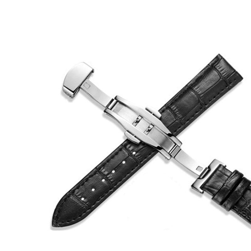 Leather Watchstrap with Butterfly Buckle