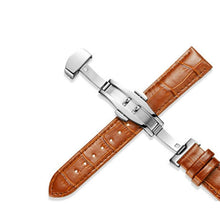 Load image into Gallery viewer, Leather Watchstrap with Butterfly Buckle