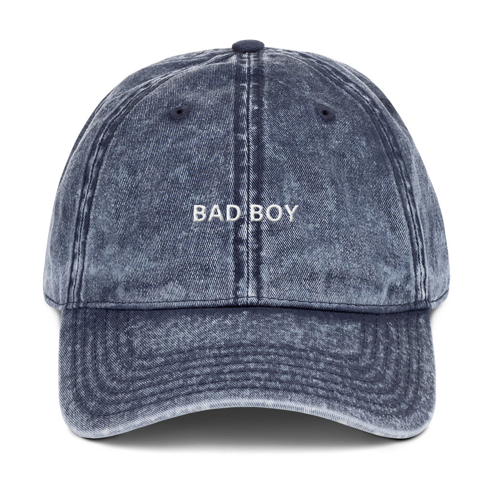 Vintage Bad Boy Cotton Twill Cap