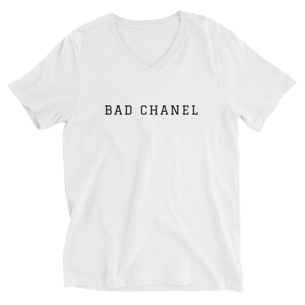 Bad Chanel Short Sleeve V-Neck T-Shirt