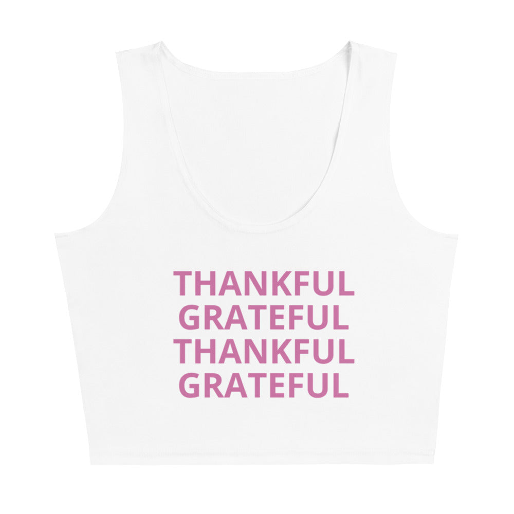 Grateful, Thankful Cut & Sew Crop Top