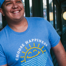 Load image into Gallery viewer, Choose Happiness Tee - Happy Blue