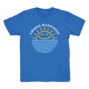 Choose Happiness Tee - Happy Blue