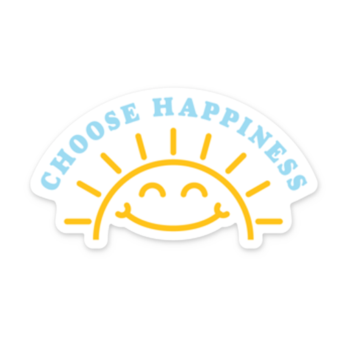 Choose Happiness Static Cling