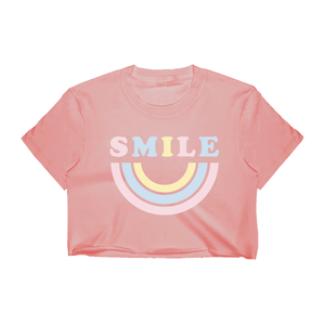 Smile Crop Top - Dusty Rose