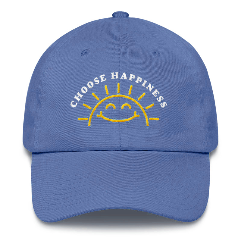 Choose Happiness Hat - Joyful Blue