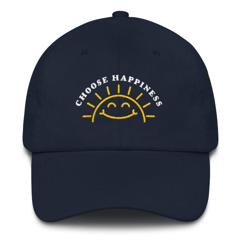 Choose Happiness Hat - Positive Navy