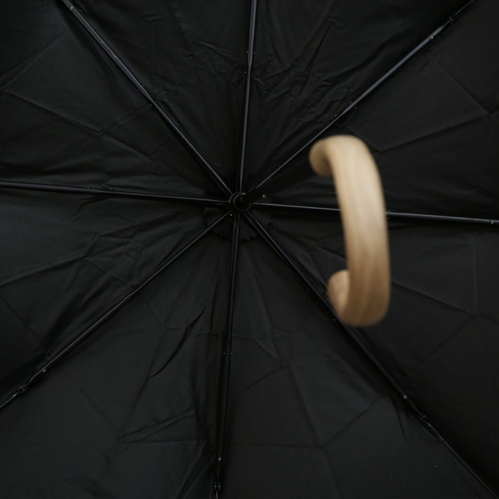【100%遮光】FOLDING UMBRELLA HANANOKI<br>Black x White
