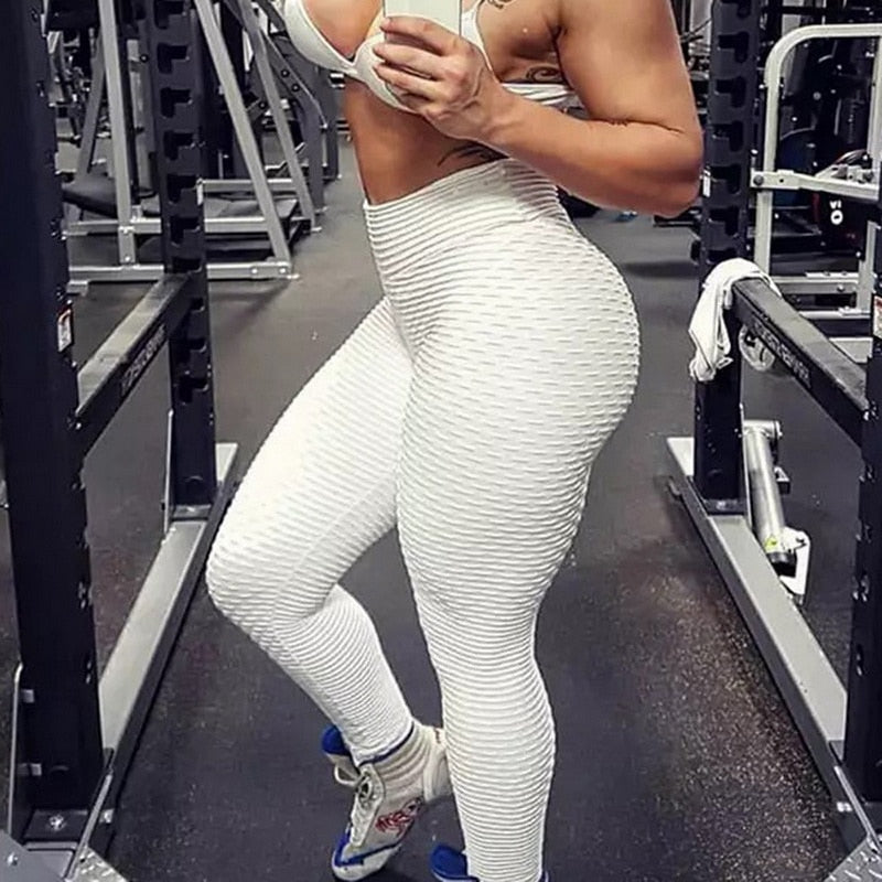 67701e88eb637 ... Hot New Women Rinched Yoga Pants Sport Leggings Push Up Tights Gym  Exercise High Waist Fitness ...