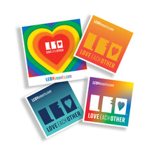 Load image into Gallery viewer, Pack of 4 Pride LEO Stickers