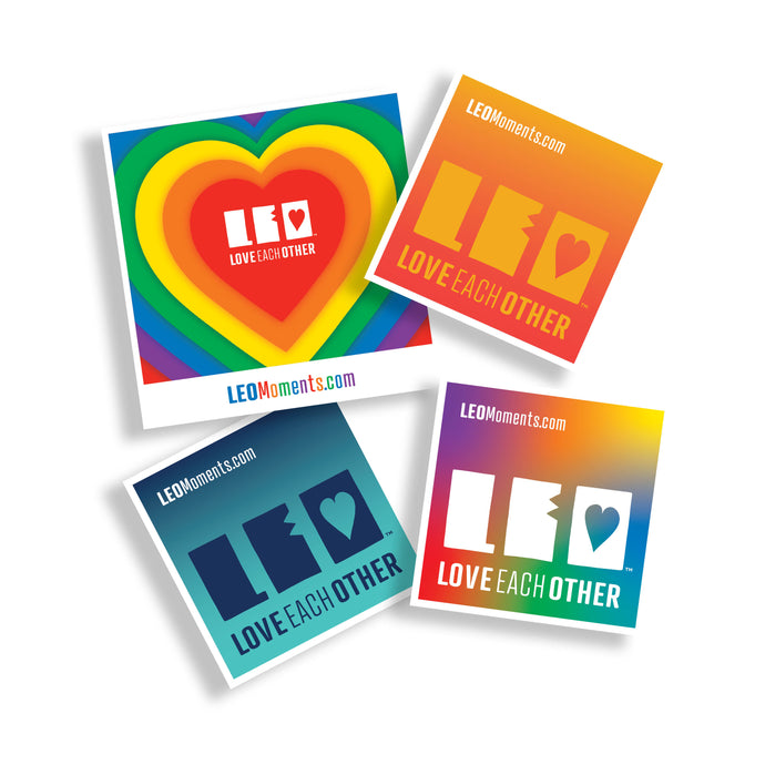 Pack of 4 Pride LEO Stickers