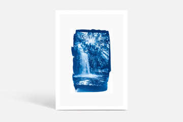 Waterfall Cyanotype