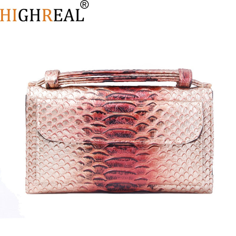 Crossbody Bag For Women Fashion Snake Skin Leather Shoulder Bags Female Chain Messenger Bag Women Handbag Party Day Clutches
