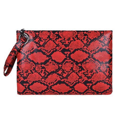 Snake Print Wristlet Clutch Women Daily Makeup Bags Purse Soft PU Leather Money Phone Pouch Casual Wallet 2019 Hot Selling