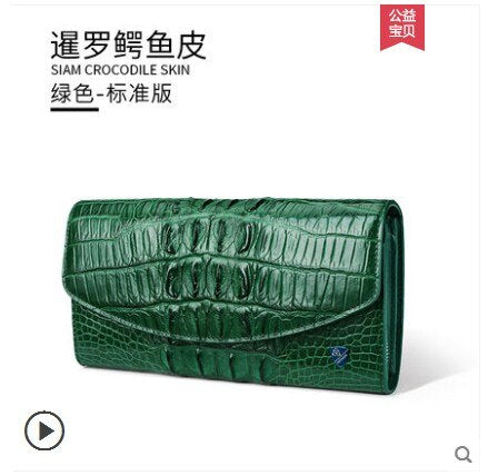 gete 2019 new Imported real crocodile leather handbag female Thai leather hand bag fashion dinner bag crocodile leather bag