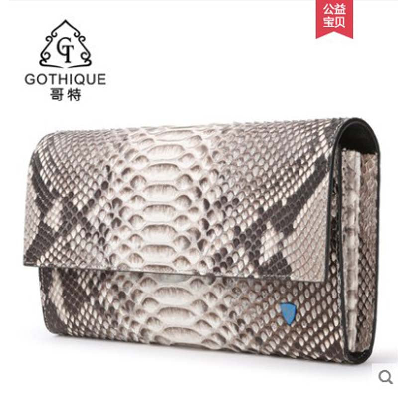 GETE 2019 Imported python skin handbag lady bag genuine leather handbag purse banquet large capacity lady bag snake skin bag