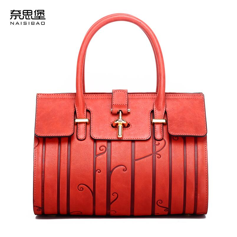 NAISIBAO2018 New luxury fashion 100% high quality portable Shoulder Messenger retro handbag temperament Chinese style