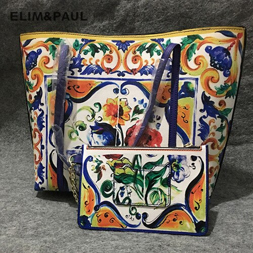 New Luxury Brand Fashion Printed Bulk Leather Bag Women Shopping Bag Ethnic Style Handbag Purse Lady Shoulder Messenger Bags Sac