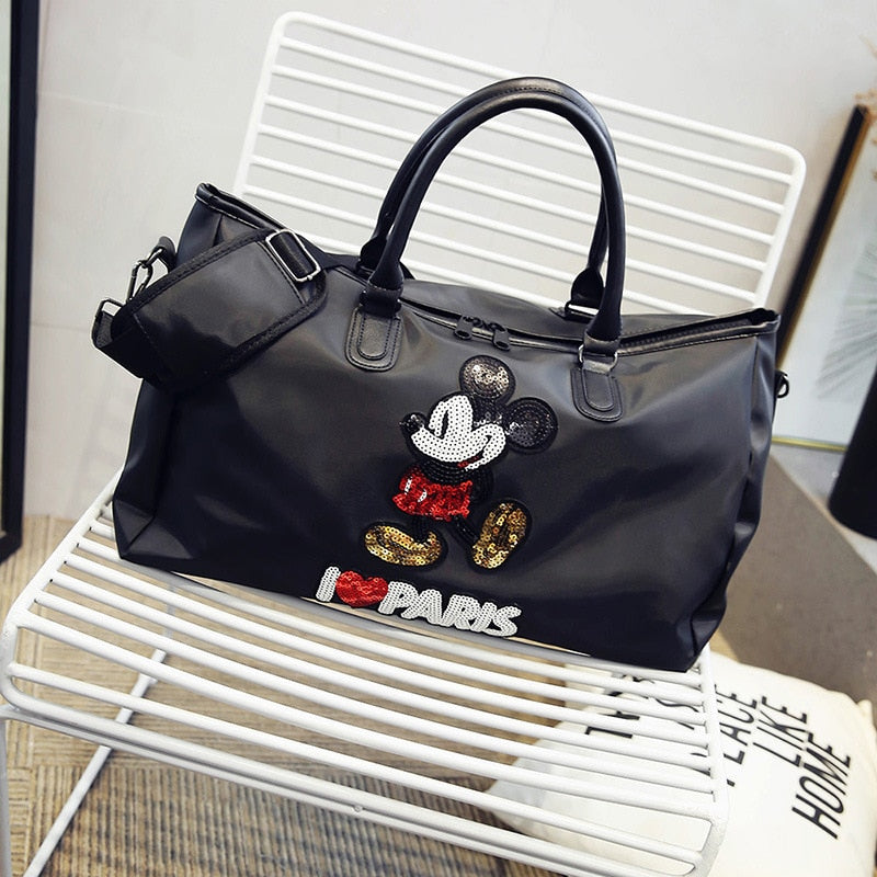 2019 new Korean version of the style portable handbag large capacity waterproof shoulder bag black Messenger bag