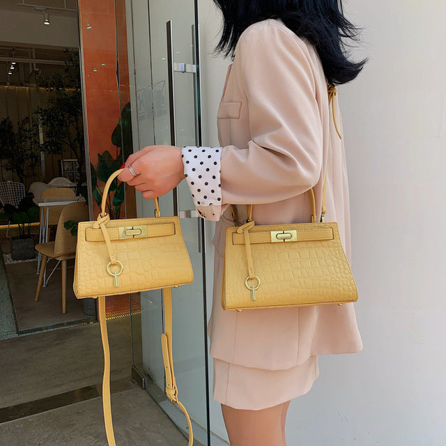 Fashion Women Crocodile Handbag Large Capacity Alligator Lock Brand Designer Shoulder Bag High Quality 2019 New Crossbody Bag